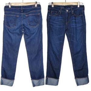 AG Stevie Cut Slim Straight Cuffed Denim Jeans 26